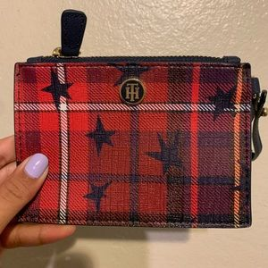Tommy Hilfiger plaid with stars coin purse
